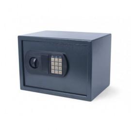 Caj. seguridad, panel electrónico, 2 llaves de emer. y pilas, color gris oscuro 8054350