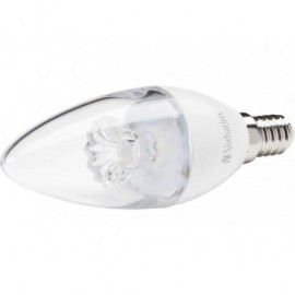 VERBATIM LED Candle E14 3.1W equivale a 25W / 2700K 250lm Clear 52636