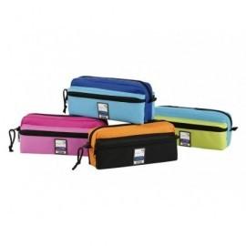 VIQUEL Portatodo Triple Zip Teknik 220x90x65mm. poliéster Colores surtidos 97973405
