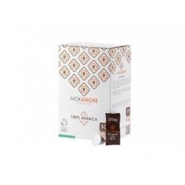 MOKAMORE Caja 50 café arábico cápsulas 02911