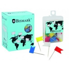 BISMARK Caja de 25 agujas señalizadoras tipo bandera 319711