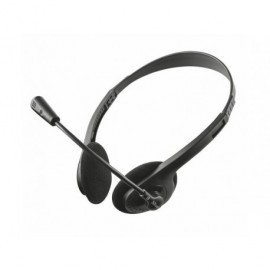 TRUST Auriculares Chat Ziva estéreo para PC con micrófono biaural diadema negro 21517