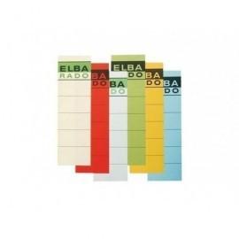 ELBA Paquete 10 hojas x 25 etiquetas master borde color 400022020
