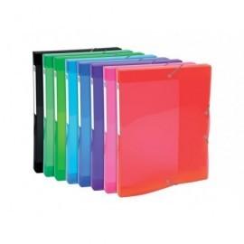 EXACOMPTA Carp.proyecto lomo ancho 25mm p.p.,para A4, colores brillantes 8 colores surtidos 59670E