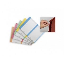 ELBA Paquete de 10 hoja A5 27 etiquetas aku/arcon 14,4x0,8 blancas borde color 100330201