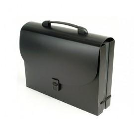 VIQUEL Maletin pp 8/10 ng,12p,2 C. 80mm medida 330x225 Int.gris osc. cierre broche asa ríg.117605-03