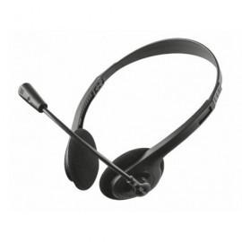 TRUST Auriculares Primo chat para pc y portátil estéreo/biaural/micrófono/negro 21665