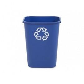 RUBEBERMAID  Papelera reciclaje 39L  para interior o exterior . Azul FG295773BLUE