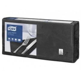 TORK Caja 10 paquetes 200 servilletas, 2 capas, negro 165x163 mm 477148