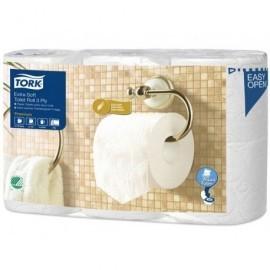 TORK Paq.6 rollos papel higiénico 3 capas, 170 serv,  aspecto agradable y un tacto más grueso 110318