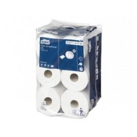 TORK Paq 12 rollos papel higiénico mini SmartOne®,blanco 620 serv, 2 capas  472193