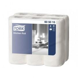 TORK Paq 6 Rollos cocina, 2 capas, blanco  605015