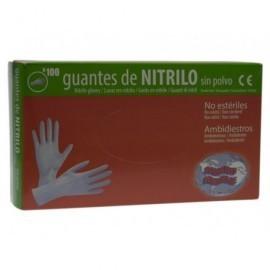 Caja 100 guantes nitrilo desechable (libre de latex )sin polvo. talla P. 500690