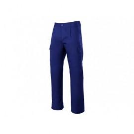 Pantalón azul  t-48 multibolsillo c/ pinzas,elástico en cintura, y 6 bolsillos.7A345548