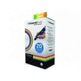 POLAROID Paquete de 20 filamentos 3D plástico PLA colores surtidos 3D-FP-PL-2500-00