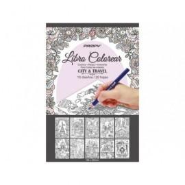 Libro 20 hojas colorear antiestres 16 x 23 cm. 324454