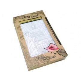 Pack 6 Murales para colorear antiestres 30 x 21 cm. 324453