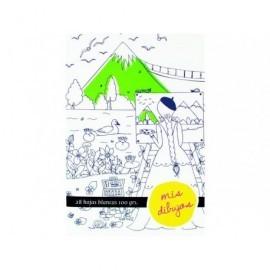 Cuaderno 28 hojas blancas de dibujo fantasy 324837