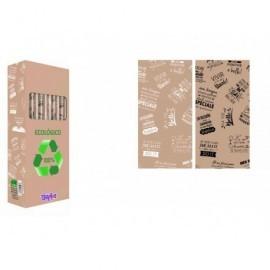 Rollo papel regalo Kraft reciclado 1hoja 70x150cm,45gr frases positivas 4 idiomas 01019004