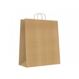 Bolsa de papel asa retorcida kraft verjurado natural formato xl 90gr 02103022