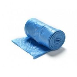 Pack 15 uds. Bolsa de basura  55x60, azul , 30 l, Galga 80. Con asas 17077
