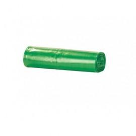 Pack 10 uds.Bolsa basura 115X150 verde, 240 l, galga 110.  Para grandes contenedores 27379