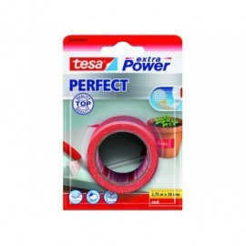 TESA Cinta de tejido extra power perfect 2,75mx38mm rojo 56344-00017-03