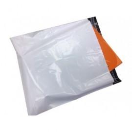 Pack 100 bol mensajería plástico opacas,solapa adhesiv,fuelle 350X450+50mm BC3504505060SIN