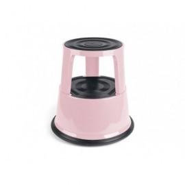 Taburete rodante metálico soporta hasta 150kg. Color rosa flamingo 8015122