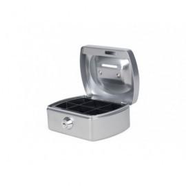 Caja de caudales con ranura,bandeja para efectivo incluida, color plata 8007424