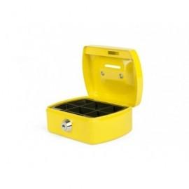 Caja de caudales con ranura,bandeja para efectivo incluida, color amarillo 8007431