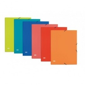 ELBA Carpeta gomas Elba color fº cartón forrado papel peliculado brillante,3 solapas,st 400087186
