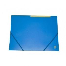 Carpeta gomas con solapa polipropileno translúcido semirígido,med:320x245mm azul 312136