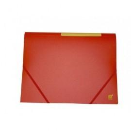 Carpeta gomas con solapa polipropileno translúcido semirígido,medida:320x245mm rojo 312138