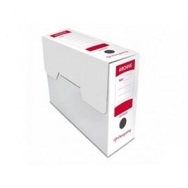 PERGAMY Caja archivo definitivo Cuartilla 279x213x105mm Blanco Carton