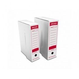 PERGAMY Caja archivo definitivo facil montaje 430x316x116 mm Blanco Carton