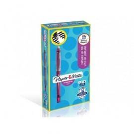 PAPER MATE Caja 12 bolígrafos gel borrable fantasía. Punta 0,7 mm. 1989242