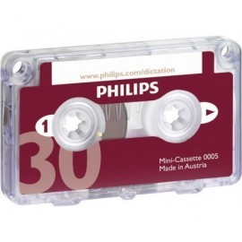 PHILIPS Grabadoras Minicassete 30 min Para Pocket memo 388/488/588/696 Executive 720/725 LFH0005/50