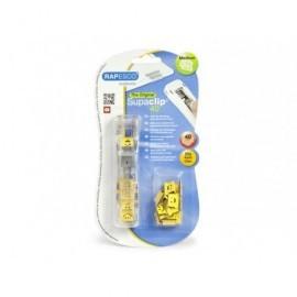 RAPESCO Dispensador de clips traslúcido con 25 clips adicionales, para 40 hojas. 1370