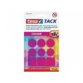 TESA Blister 9 almohadillas adhesivas en color rosa 59406-00000-00