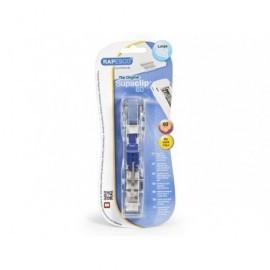 RAPESCO Supaclip 60 dispensador translúcido + 8 clips acero inoxidable RC6008SS
