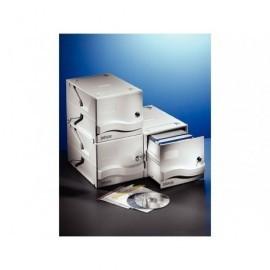DATALINE Archivador CD/DVD capacidad 160 discos cerradura llave gris 67092