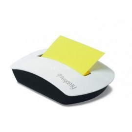 PERGAMY Dispensador + bloc de notas amarillo neón 90060