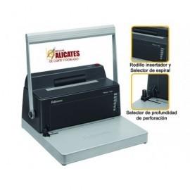 FELLOWES Encuadernadora Metal 100R Manual A4-400x400x245mm Perforación20hojas 0200401