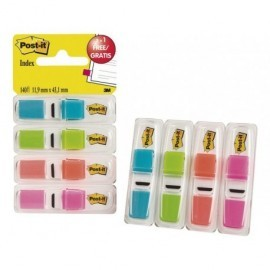 POST-IT Índices adhesivos Index Pack 3+1 gratis 25,4 x 43,1 mm Colores surtidos 70005040152