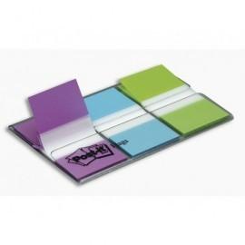 POST-IT Índices adhesivos 3 ud 20 Índices/ud 25,4 x 43 mmVioleta, verde y azul XA004806197