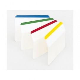 POST-IT Índices adhesivos Blister 6 ud 4 Índices/ud 51X38 Colores surtidos Rigidos 70005227346
