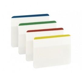 POST-IT Índices adhesivos TABS Blister 6 ud 4 colores/ud 51X38 Colores surtidos Rígidos 70071425006