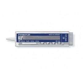 STAEDTLER Mina 255 Estuche 40ud Trazo 0.5 mm 2B Con pulsador 25505-2B