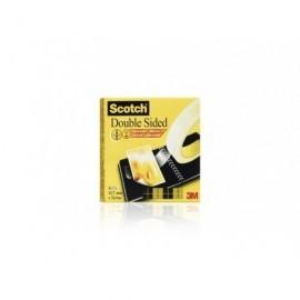 SCOTCH Cinta adhesiva doble cara  Doble cara 12mm x 6m con portarrollos 70005232916